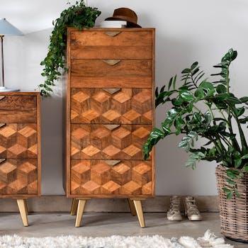 Chiffonnier bois et marqueterie SYRACUSE