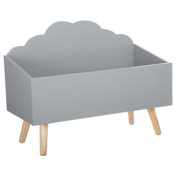 Coffre ouvert nuage gris