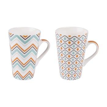 Coffret 2 mugs funky 46cl