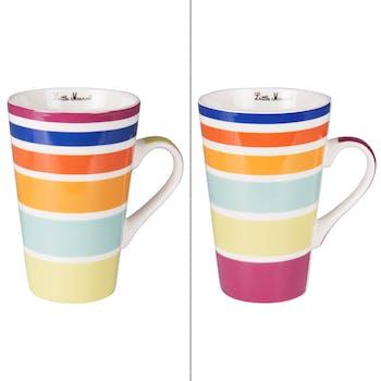 Coffret 2 mugs multicolor 46cl