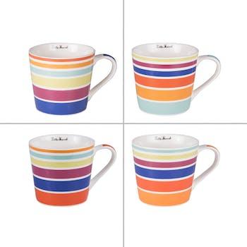 Coffret 4 mugs multicolor 41cl