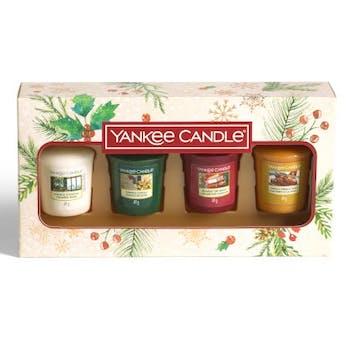 Coffret cadeau 4 votives parfumées YANKEE CANDLE