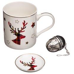 Coffret mug de noël + boule à thé en inox