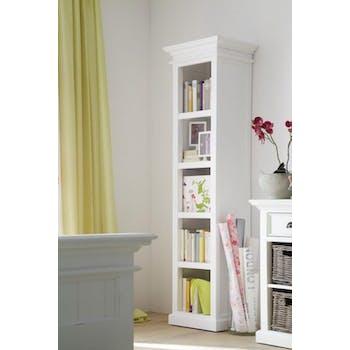 Colonne bibliothèque bois blanc acajou 50x190cm ROYAN