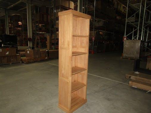 Colonne bibliothèque bois hévéa massif H200cm TRADITION