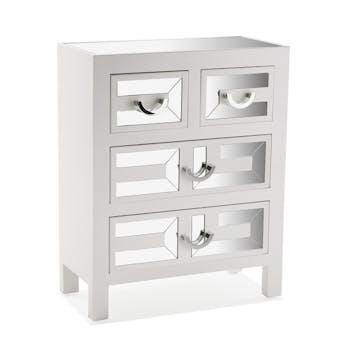 Commode blanche 4 tiroirs miroir ART DECO