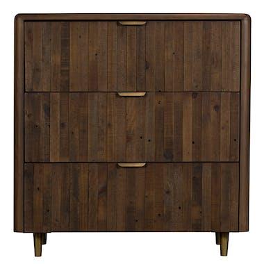 Commode bois recyclé brun 3 tiroirs QUEENSTOWN