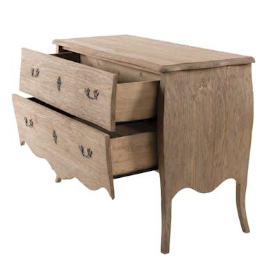 Commode bois recyclé romantique 2 tiroirs BRUGES