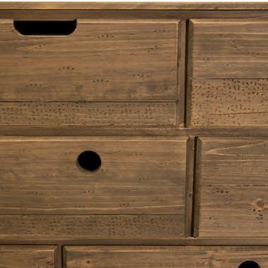 Commode de chambre en bois de sapin 8 tiroirs LIMA