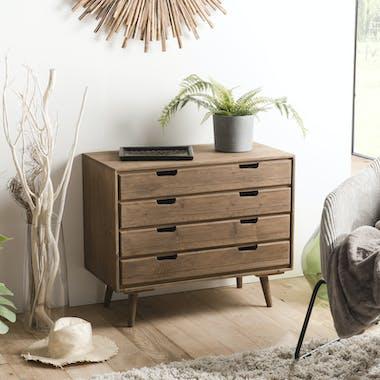 Commode de chambre en bois de sapin LIMA