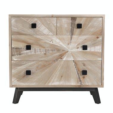 Commode de salon en bois blanchi PHOENIX