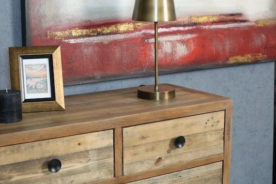 Commode en bois recyclé 7 tiroirs BRISBANE