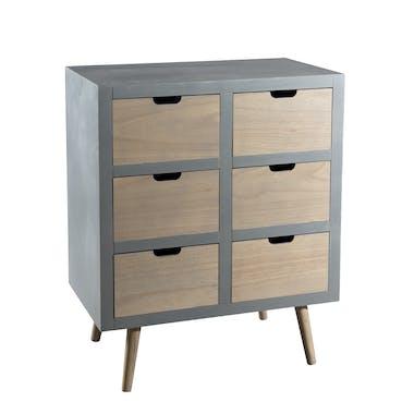 Commode moderne grise bois effet béton LORENS