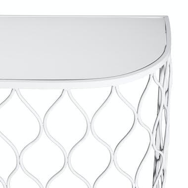 Console blanche design (2 pièces) BANGALORE