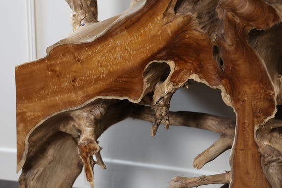 Console en bois de racine de teck