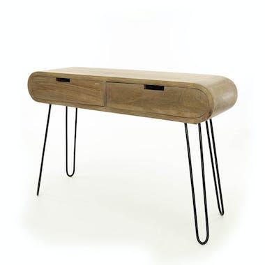Console en bois forme oblongue NIAGARA