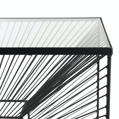 Console en verre et métal BANGALORE