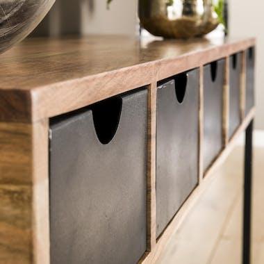 Console industrielle tiroirs métal BUNBURY