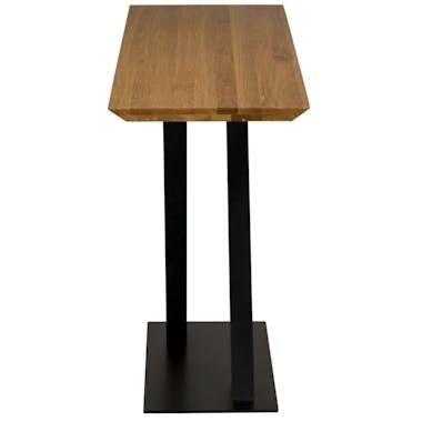 Console moderne bois pied en croix VOLGA
