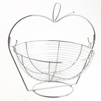 Corbeille à fruits forme pomme inox 29x34