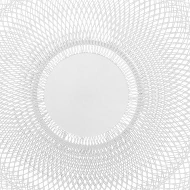 Corbeille métal blanc D27cm