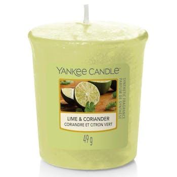 Coriandre et citron vert bougie parfumée votive YANKEE CANDLE