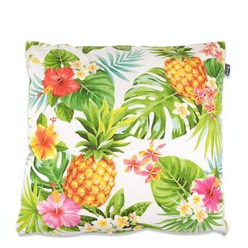 Coussin ananas et feuilles