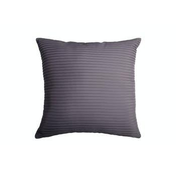 Coussin anthracite rayures en relief 40x40cm SOCHIC