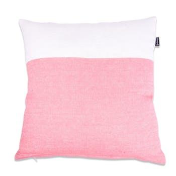 Coussin de canapé rose et blanc