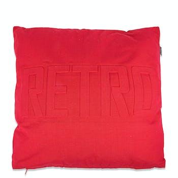 Coussin de canapé rouge RETRO