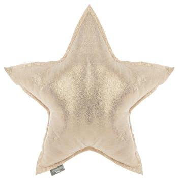 Coussin étoile dorée
