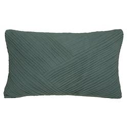 Coussin rectangulaire vert plissé