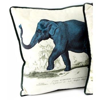 Coussin safari éléphant