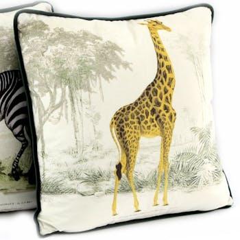 Coussin safari girafe