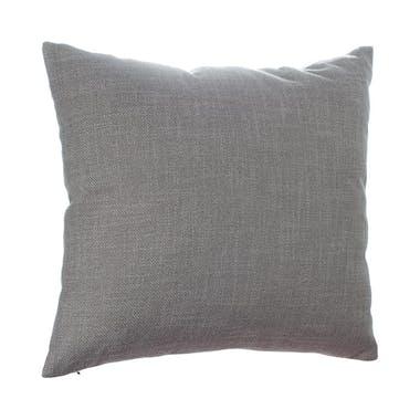 Coussin uni en tissu gris clair déhoussable 40x40cm