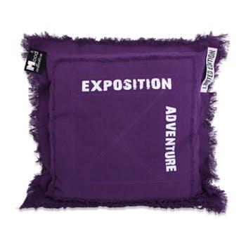 Coussin violet Adventure