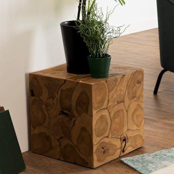 Cube en bois de teck OTTAWA
