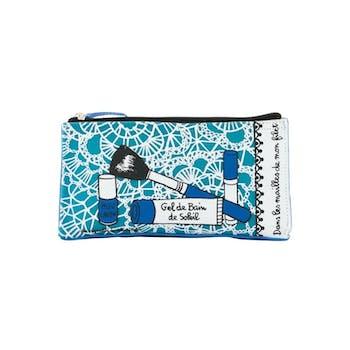 DANS MON FILET - Trousse de maquillage Bleu 20X5XH11cm DLP