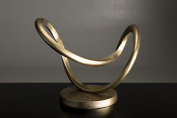 Décoration à poser abstraite aluminium doré ZALA