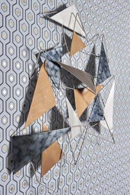 Décoration murale abstraite thème triangle