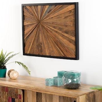 Décoration murale bois de teck perspective OTTAWA