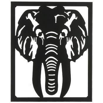 Décoration murale Eléphant noir 55 cm