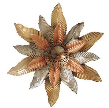 Décoration murale en métal fleur d'automne