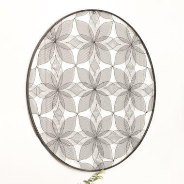 Décoration murale en métal fleurs BANGALORE