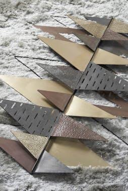 Décoration murale en métal triangles multicolores