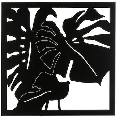 Décoration murale feuilles de Monstera noires 56 cm