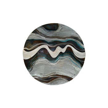 Décoration murale Planète avec Ondulations métal multicolore D60cm