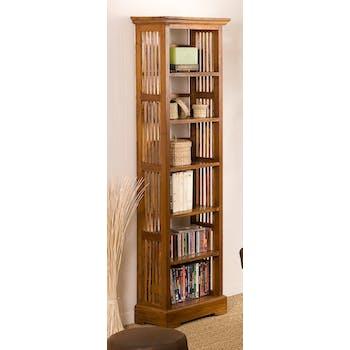 Bibliotheque etagere en bois clair de style colonial