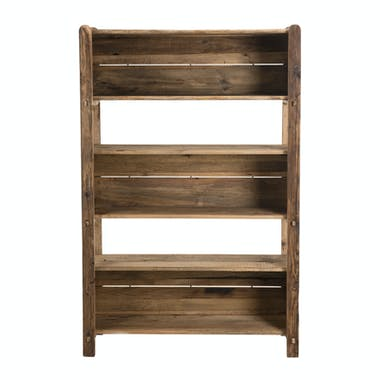 Etagère bibliothèque en bois de pin recyclé 5 niveaux DENVER