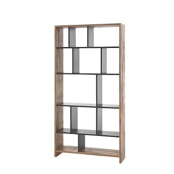 Bibliotheque etagere destructuree en bois de style contemporain